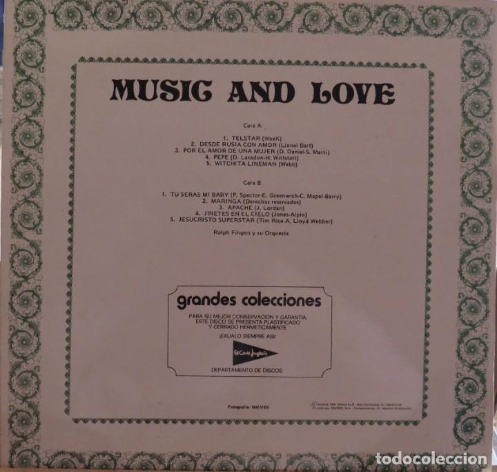 Discos de vinilo: RALPH FINGERS Y SU ORQUESTA MUSIC AND LOVE GRANDES COLECCIONES DEL CORTE INGLES RED POINT 1976 - Foto 2 - 209106948