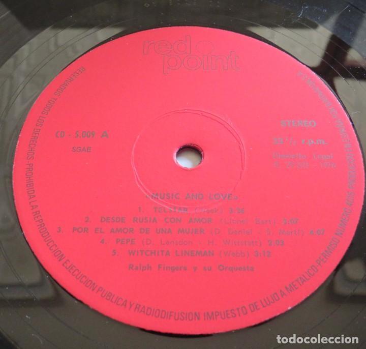 Discos de vinilo: RALPH FINGERS Y SU ORQUESTA MUSIC AND LOVE GRANDES COLECCIONES DEL CORTE INGLES RED POINT 1976 - Foto 4 - 209106948