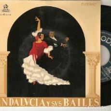 "Discos de vinilo: ANDALUCIA Y SUS BAILES 7"" SPAIN EP 45 JUAN J. ANDRADE PEPITA REYES ADOLFO MORAN SINGLE VINILO 1954. Lote 209137375"