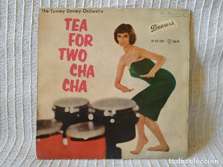 THE TOMMY DORSEY ORCHESTRA STARRING WARREN COVINGTON - TEA FOR TWO CHA CHA + 3 EP 1959 BRUNSWICK (Música - Discos de Vinilo - EPs - Orquestas)