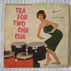 Discos de vinilo: THE TOMMY DORSEY ORCHESTRA STARRING WARREN COVINGTON - TEA FOR TWO CHA CHA + 3 EP 1959 BRUNSWICK. Lote 209149361
