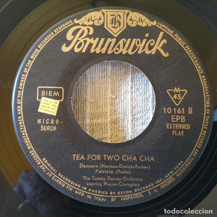 Discos de vinilo: THE TOMMY DORSEY ORCHESTRA STARRING WARREN COVINGTON - TEA FOR TWO CHA CHA + 3 EP 1959 BRUNSWICK - Foto 4 - 209149361