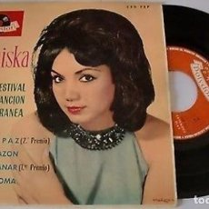 "Discos de vinilo: FRANCISKA 7"" SPAIN EP 45 PAZ + 3 SINGLE VINILO ORIGINAL 1963 FESTIVAL DE LA CANCION MEDITERRANEA POP. Lote 209153357"