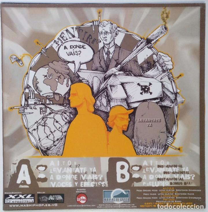 """Discos de vinilo: HUELLAS DE BARRO - EL AITOR CIENGRADOS [ HIP HOP / RAP] EDICIÓN ESPECIAL LIMITADA MX 12"""" 45RPM 2003 - Foto 2 - 208432801"""