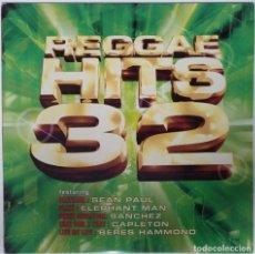 "Discos de vinilo: VARIOUS - REGGAE HITS 32 ( REGGAE / DANCEHALL LP VINILO COMPILATION) [[LP 12"" 33RPM]] [[2003]]. Lote 209158582"
