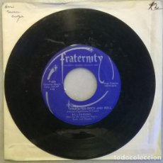 Dischi in vinile: BILL PARSONS & THE ALL AMERICAN BOYS. EDUCATED ROCK AND ROLL/ CAREFREE WANDERER. FRATERNITY USA 1959. Lote 209167587