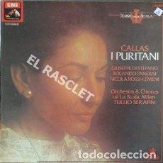 Discos de vinilo: MAGNIFICO ALBUM CON 3 LPS - CALLAS I PURITANI - ORQUESTA Y COROS ESCALA DE MILAN. Lote 209176906