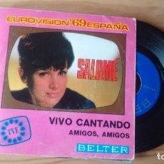 Discos de vinil: SING ( VINILO) DE SALOME AÑOS 60 ( EUROVISION). Lote 209182760