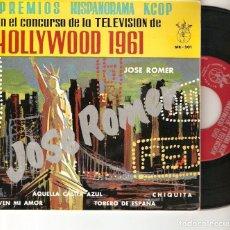 "Discos de vinilo: JOSE ROMER 7"" SPAIN EP 45 PREMIOS HISPANORAMA SINGLE VINILO CONCURSO DE LA TELEVISION HOLLYWOOD 1961. Lote 209187388"