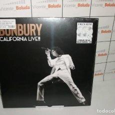 Disques de vinyle: BUNBURY CALIFORNIA LIVE!!! (EDICIÓN COLOR MARMOL) (CD + 2 LP-VINILO) NUEVO Y PRECINTADO ENVIÓ GRATIS. Lote 238914660