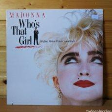 Discos de vinilo: LP ALBUM , MADONNA , WHO'S THAT GIRL. Lote 209201072