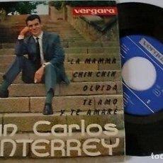 """Discos de vinilo: JUAN CARLOS MONTERREY 7"""" SPAIN EP 45 LA MAMMA+3 SINGLE VINILO ORIGINAL 1962 POP ROCK MUY BUEN ESTADO. Lote 209208620"""