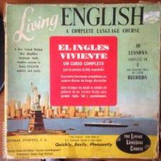 Discos de vinilo: EL INGLÉS VIVIENTE. LIVING ENGLISH. A COMPLETE LANGUAGE COURSE. 4 VINILOS + 2 LIBROS. 1965.. Lote 229912090