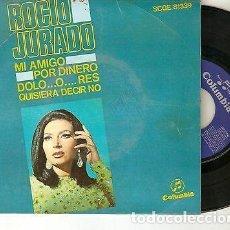 """Discos de vinilo: ROCIO JURADO 7"""" SPAIN EP 45 MI AMIGO + 3 SINGLE VINILO ORIGINAL 1968 BOLERO LATIN RUMBA BUEN ESTADO. Lote 209214946"""