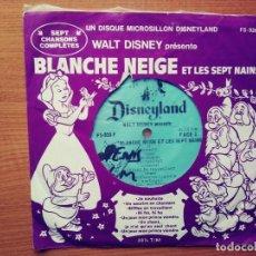 Discos de vinilo: BLANCHE NEIGE ET LES SEPT NAINS.DISNEYLAND.SINGLE.CANADA. Lote 209216678