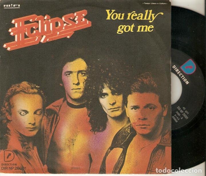 "ECLIPSE 7"" ITALIA 45 YOU REALLY GOT ME SINGLE VINILO ORIGINAL 1978 ELECTRONIC DISCO SYNTH POP RARO ! (Música - Discos - Singles Vinilo - Disco y Dance)"