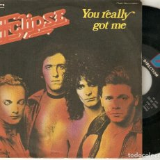 "Discos de vinilo: ECLIPSE 7"" ITALIA 45 YOU REALLY GOT ME SINGLE VINILO ORIGINAL 1978 ELECTRONIC DISCO SYNTH POP RARO !. Lote 209248400"