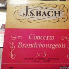 Discos de vinilo: CONCERTO BRANDEBOURGEOIS 3. BACH. VINILO.. Lote 209254931