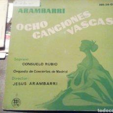 Discos de vinilo: ARAMBARRI. 8 CANCIONES VASCAS. VINILO.. Lote 209255530