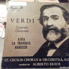 Discos de vinilo: VERDI. COROS DE OPERAS. VINILO.. Lote 209255903