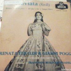 Discos de vinilo: LA TRAVIATA. RENATA TEBALDI. VINILO.. Lote 209256050