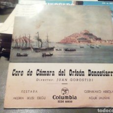 Discos de vinilo: CORO DE CÁMARA DEL ORFEÓN DONOSTIARRA VINILO.. Lote 209258735