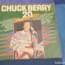 Discos de vinilo: LP CHUCK BERRY 20 GREATEST HITS PEQUEÑAS SEÑALES DE USO. Lote 209301000
