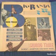 Discos de vinilo: LP BIG BANDS SWING TIME DORSEY HAMPTON ETC MUY BUEN ESTADO JAZZ. Lote 209308080