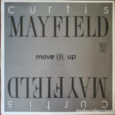 Discos de vinilo: CURTIS MAYFIELD - MOVE ON UP - MAXI SINGLE DE 12 PULGADAS EDICION ESPAÑOLA FUNK SOUL. Lote 209315648