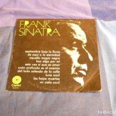Discos de vinilo: CURIOSO LP ESPAÑOL DIEZ PULGADAS FRANK SINATRA AÑOS 70. Lote 209318087