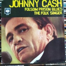 "Discos de vinilo: JOHNNY CASH - FOLSOM PRISON BLUES (7"", SINGLE) (CBS) 3549 (D:NM). Lote 209326400"