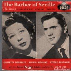 Discos de vinilo: THE BARBER OF SEVILLE / EP DECCA RF-4364. Lote 209329880
