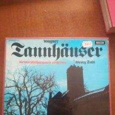 Discos de vinilo: WAGNER TANNHAUSER VIENNA PHILHARMONIC ORCHESTRA ORCHESTRA. Lote 209332406