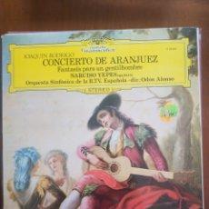 Discos de vinilo: CONCIERTO DE ARANJUEZ Y FANTASÍA PARA UN GENTILHOMBRE. Lote 209333007