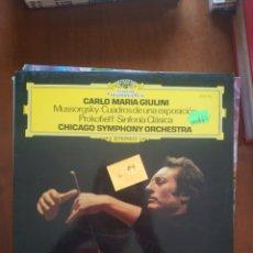 Discos de vinilo: MODEST MUSSORGSKY CUADROS DE UNA EXPOSICIÓN. Lote 209333355