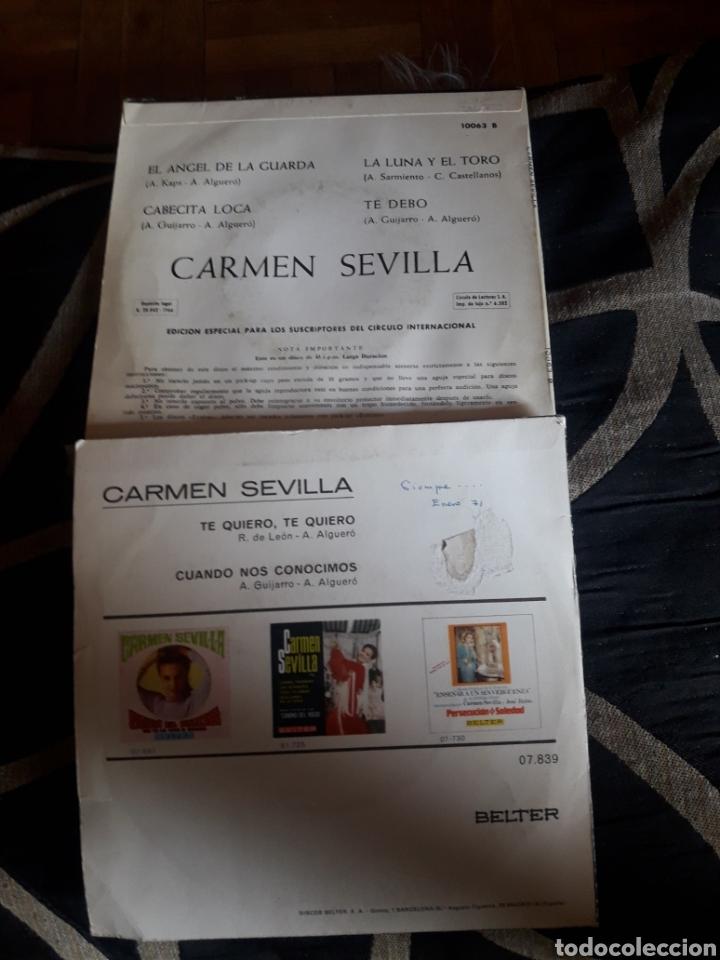 Discos de vinilo: Dos vinilos de Carmen Sevilla - Foto 2 - 209337672