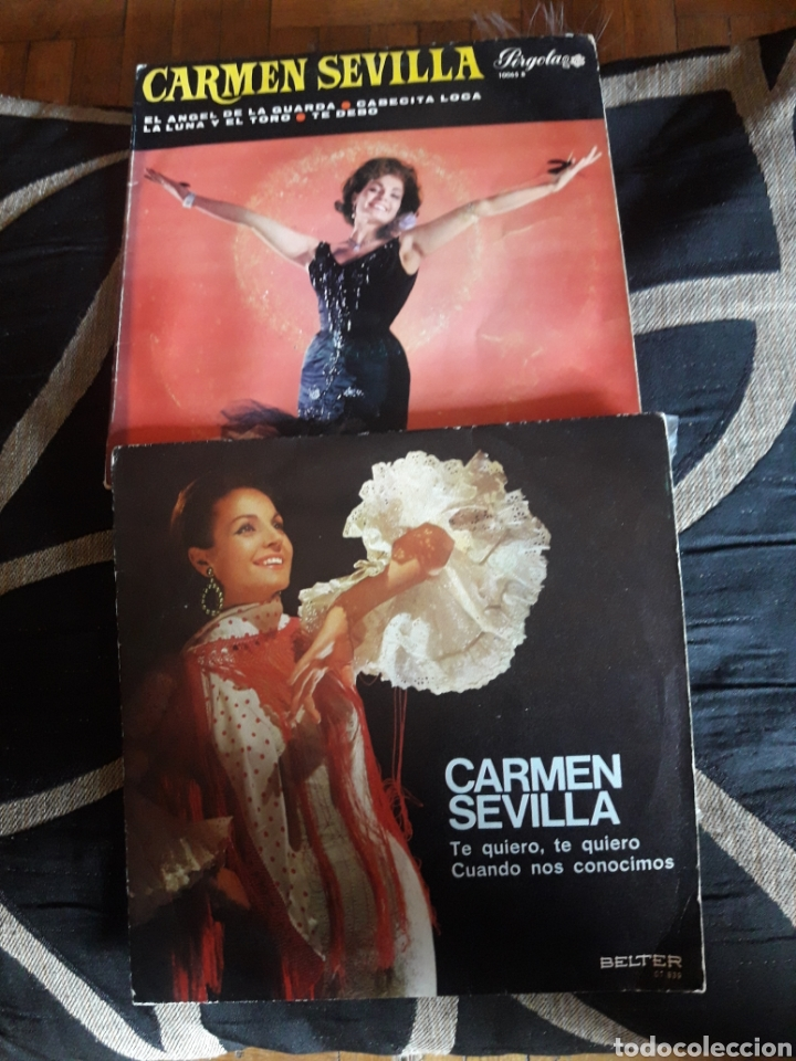 DOS VINILOS DE CARMEN SEVILLA (Música - Discos de Vinilo - Maxi Singles - Flamenco, Canción española y Cuplé)