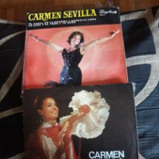 Discos de vinilo: DOS VINILOS DE CARMEN SEVILLA. Lote 209337672