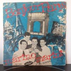 Discos de vinilo: MARINO MARINI Y SU CUARTETO. BONJOUR PARIS. CCLP 13003. 1958. DURIUM LABEL. LATIN JAZZ.. Lote 209352195