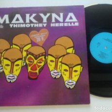 Discos de vinilo: MAKYNA & THIMOTHEY HERELLE - ST -LP MASSAI FRANCIA 1989 // ZOUK VINILO COMO NUEVO. Lote 209352337