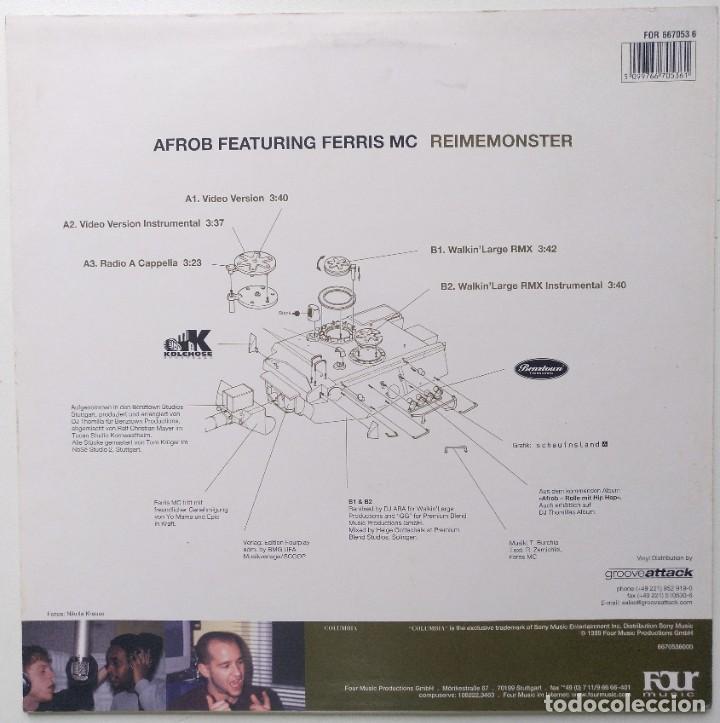 """Discos de vinilo: AFROB Ft. FERRIS MC - REIMEMONSTER [[ GERMANY HIP HOP / RAP EXCLUSIVO ]] [[MX 12"""" 45RPM] [1999]] - Foto 2 - 209356756"""