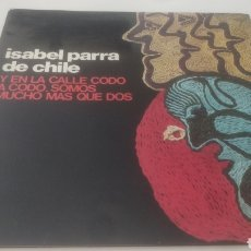 Discos de vinilo: VINILO ISABEL PARRA DE CHILE.. Lote 209365680
