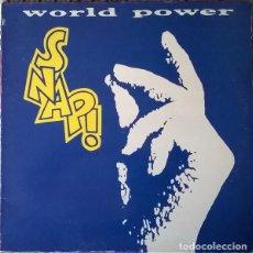 Discos de vinilo: SNAP! – WORLD POWER - LP SPAIN 1990. Lote 209369206