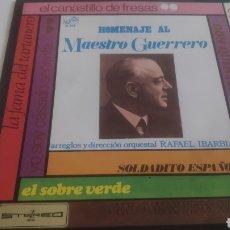 Discos de vinilo: VINILO HOMENAJE AL MAESTRO GUERRERO.. Lote 209389868