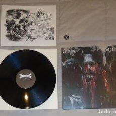 Discos de vinilo: COFFINS / OTESANEK - SPLIT - LP [INCLUYE CHAPA DE COFFINS]. Lote 56696550