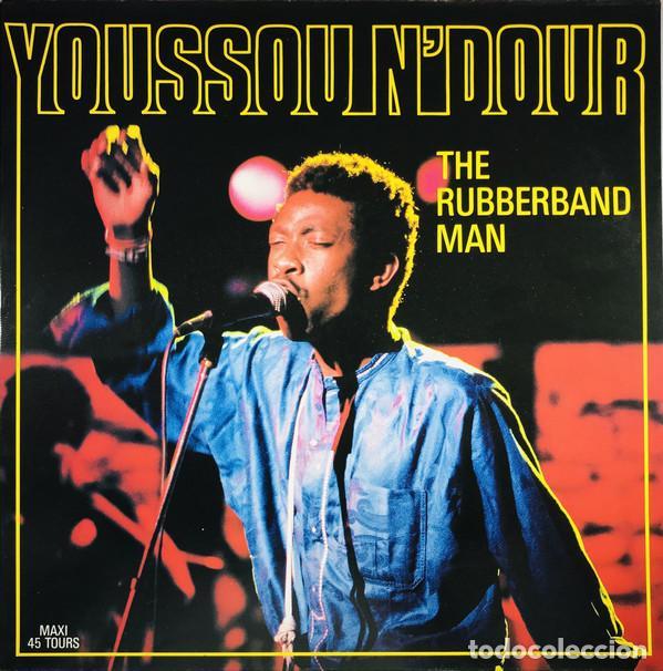 "12"" YOUSSOU N'DOUR – THE RUBBERBAND MAN - MAGNETIC RECORDS 1564876 - FRANCE PRESS (EX/EX) (Música - Discos de Vinilo - Maxi Singles - Étnicas y Músicas del Mundo)"