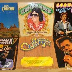 Discos de vinilo: 6 DISCOS MUSICA COUNTRY. Lote 209407360