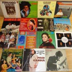 Discos de vinilo: LOTE FLAMENCO, SEVILLANAS, BULERIAS.... Lote 209410333