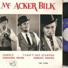 """Discos de vinilo: ACKER BILK 7"""" SPAIN EP 45 LONELY + CAROLINA MOON+2 SINGLE VINILO 1963 JAZZ TROMPETA LA VOZ DE SU AMO. Lote 209563150"""