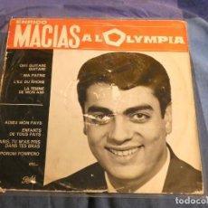 Discos de vinilo: LP BUEN ESTADO ENRICO MACIAS AL OLYMPIA AÑOS 60 VINILO CON USO AUN TOLERABLE. Lote 209563175